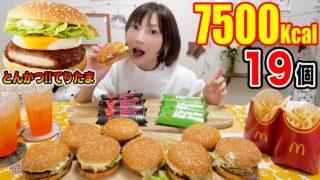 【大食い】[マック]てりたま到来!とんかつてりたま、マックフィズ、ホットストロベリーパイ新商品たちが美味しすぎる![3.6kg] [7500kcal]【木下ゆうか】